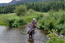 Horseback riding in Island Park
