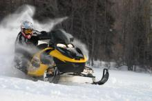 Miles of groomed snowmobile trails